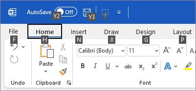 Подсказки к командам клавиатуры