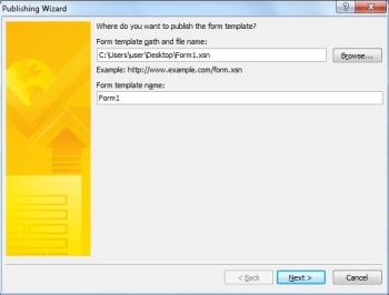 InfoPath 2010 — публикация формы