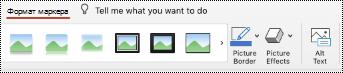 """Кнопка """"замещающий текст"""" на ленте для изображения в PowerPoint для Mac."""