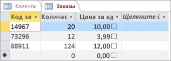 Выбор таблицы в Access