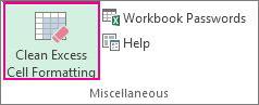 Clean Excess Cell Formatting (Удалить лишнее форматирование ячеек
