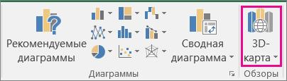 Элемент 3DMap в Excel