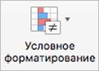 """Кнопка """"Условное форматирование"""""""