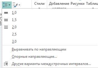 Снимок экрана, на котором показано, как изменить междустрочный интервал в Publisher.