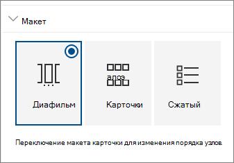 """Параметры макета веб-части """"сайты"""""""