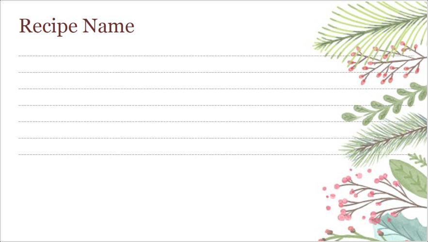 Изображение карточки с рецептом в праздничные дни