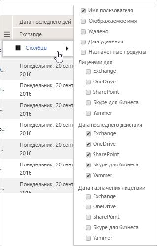 Параметры фильтра на уровне пользователя
