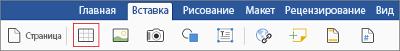 """Вкладка """"Вставка"""""""