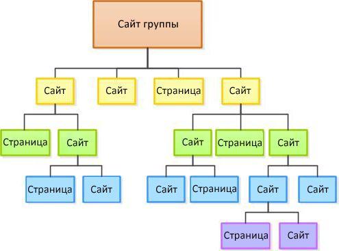 Схема иерархии сайта