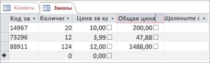 Присвоение имени полю в таблице Access