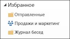 """Группы в папке """"Избранное"""""""