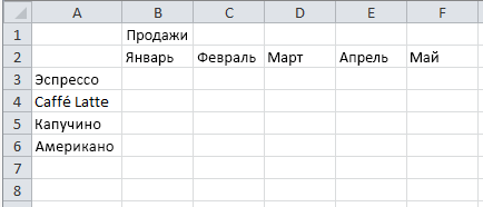 Пример листа