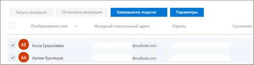Перечислены все ваши пользователи, для которых заранее указана система электронной почты.