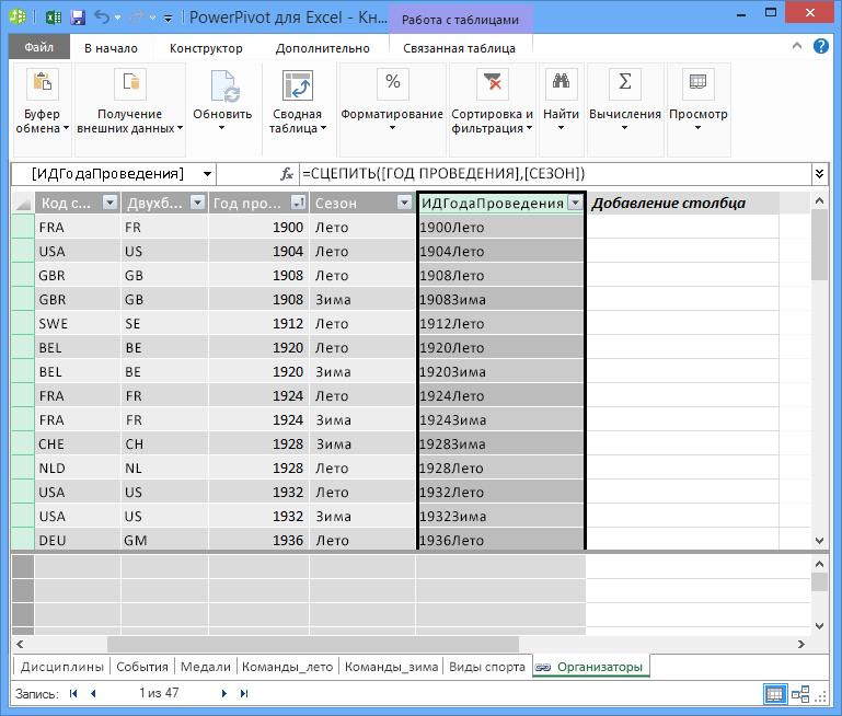 Таблица Hosts с созданным вычисляемым полем DAX