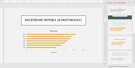 Конструктор PowerPoint, в котором отображаются идеи для оформления диаграмм