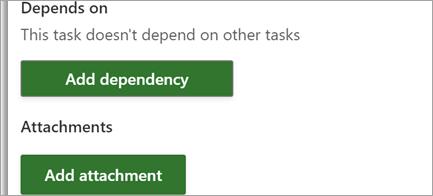 Добавление ссылок и файлов в задачи проекта