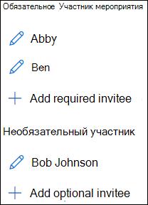 Список приглашенных