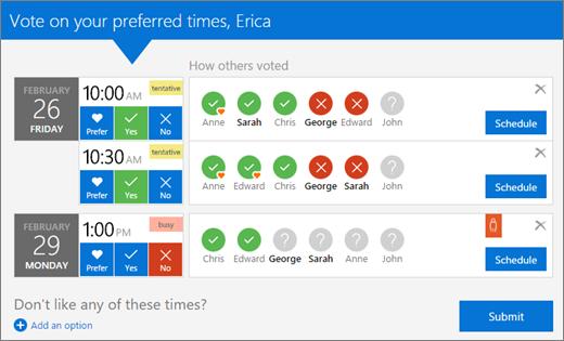 Сетка голосования