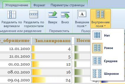 Использование отбивки для создания пространства между элементами управления
