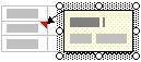 Примечание на листе с маркерами изменения размера