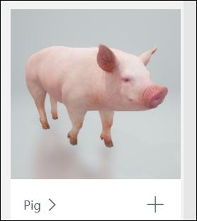 Трехмерная модель свинья
