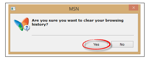 Вы действительно хотите очистить историю обзора? Да/Нет