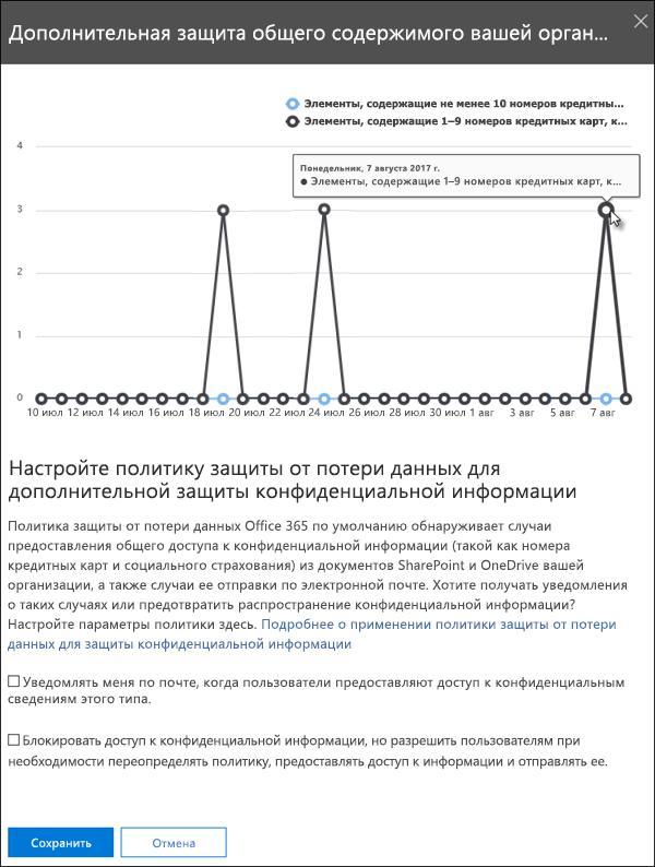 """Параметры мини-приложения """"Дополнительная защита общего содержимого"""""""