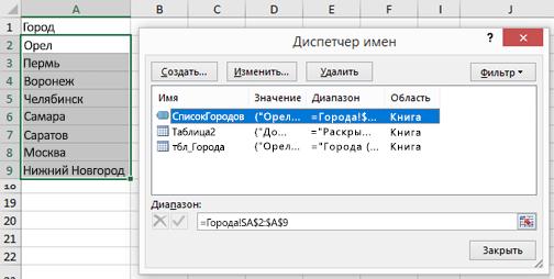 Диспетчер имен