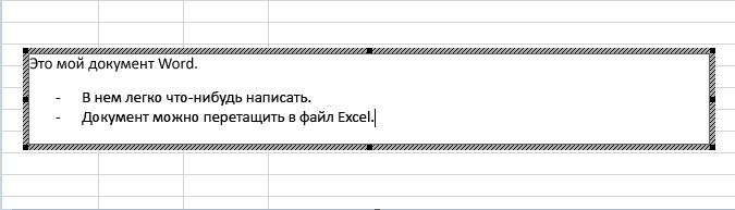 Внедренный объект является документом Word.