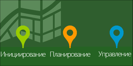 Схема управления проектом Project