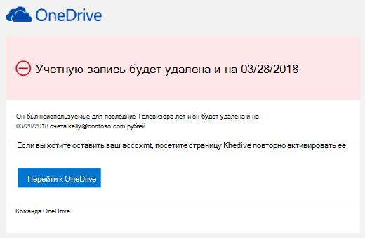 Снимок экрана с сообщением электронной почты