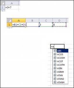 Создание формул различными способами