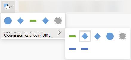 При нажатии кнопки Изменить фигуру открывается Коллекция параметров для замены выбранной фигуры.