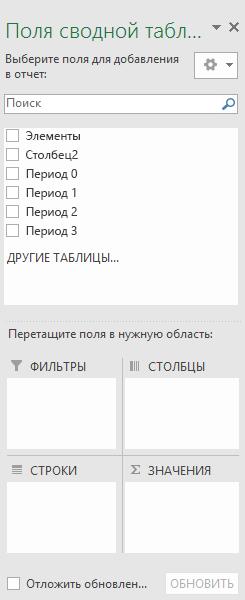 """Область """"поля сводной таблицы"""""""