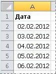 Преобразованные даты