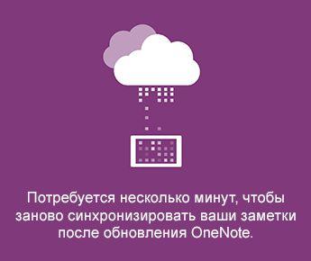 Экран синхронизации в OneNote для Android