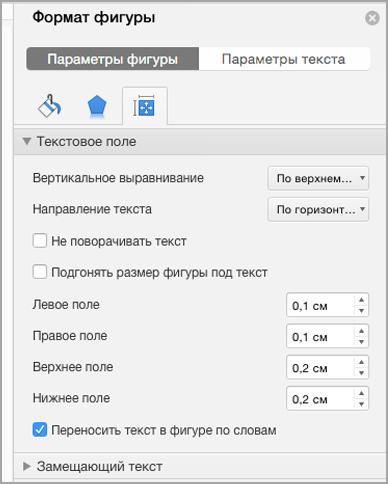 Область форматирования