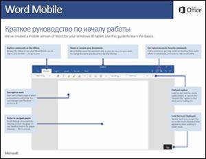 Краткое руководство по началу работы с Word Mobile