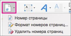 """На вкладке """"Вставка"""" нажмите кнопку """"Номер страницы"""""""