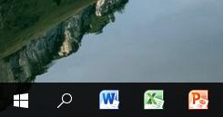 Ярлыки приложений Office, добавленные на панель задач Windows.