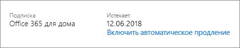 Дата окончания срока действия подписки.