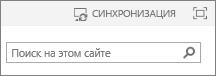Ссылка синхронизации в верхней части страницы в SharePoint2013