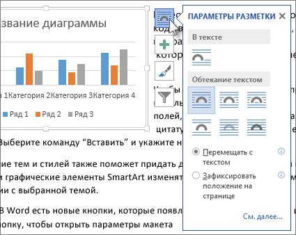 Параметры макета диаграммы