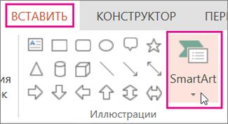 Вставка SmartArt