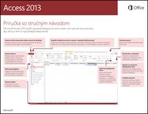Príručka so stručným návodom pre Access 2013