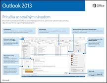Príručka so stručným návodom pre Outlook 2013
