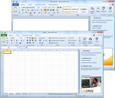 Programy Word Starter a Excel Starter