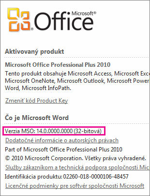 Office version number