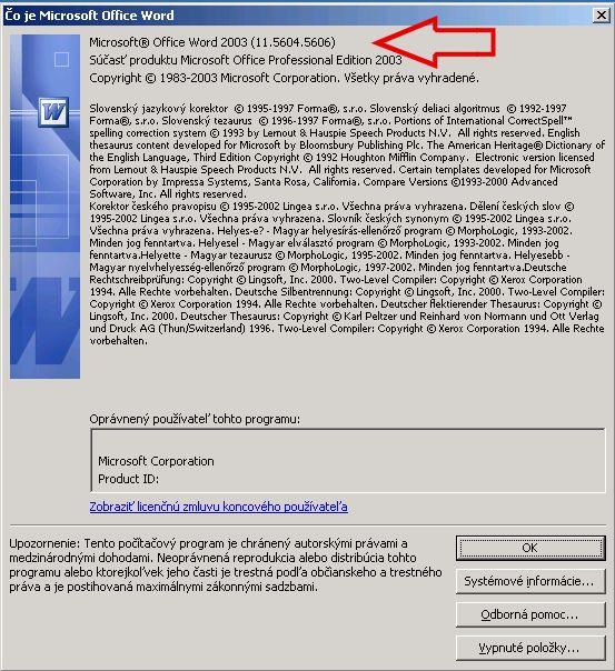 Čo je Microsoft Office Word 2003