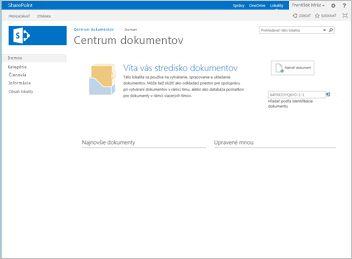 Šablóna lokality centra dokumentov